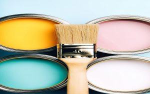 Pastel paint cans