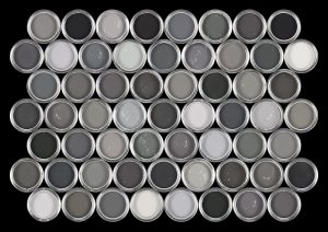 Cans of Grey Paint