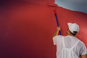 Painting wall red