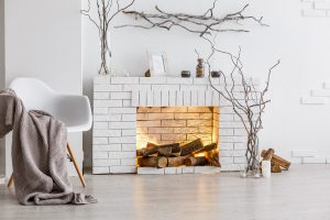 Cool White Fireplace